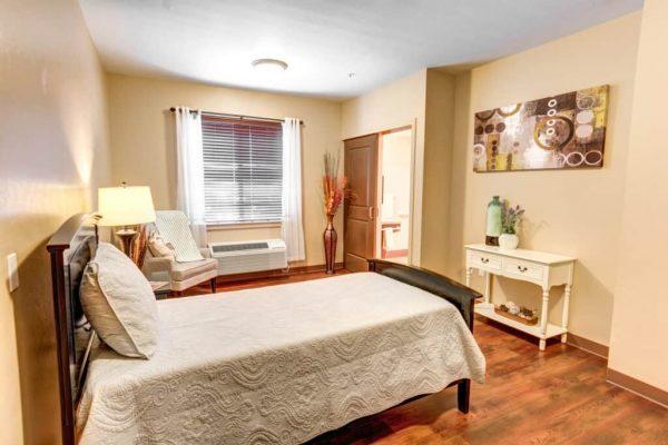 Catalina Springs Memory Care model bedroom