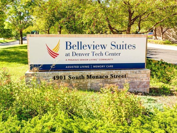 Belleview Suites at DTC welcome sign