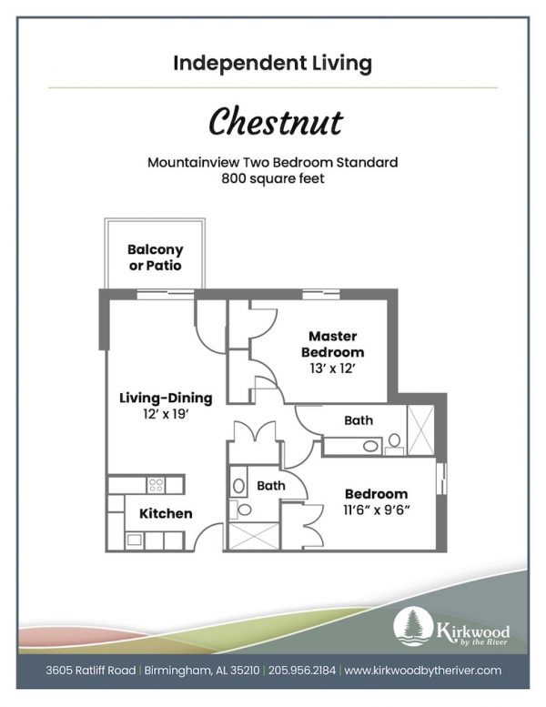 Kirkwood by the River chestnut floor plan
