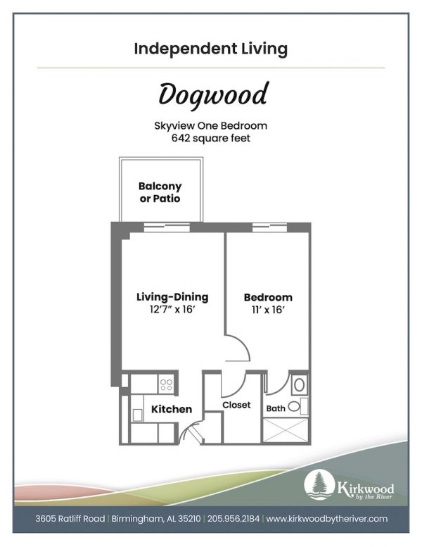 Kirkwood by the River dogwood floor plan