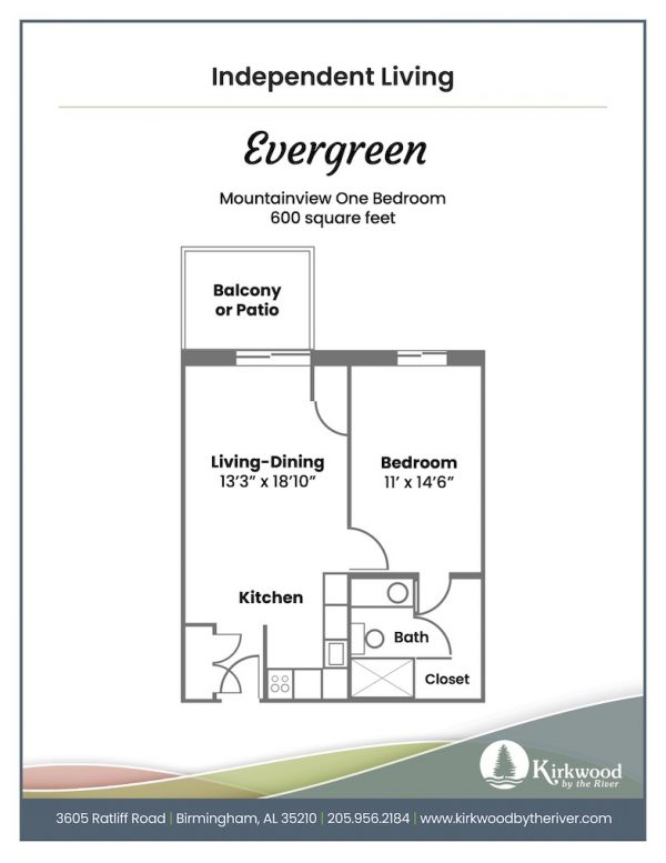 Kirkwood by the River evergreen floor plan