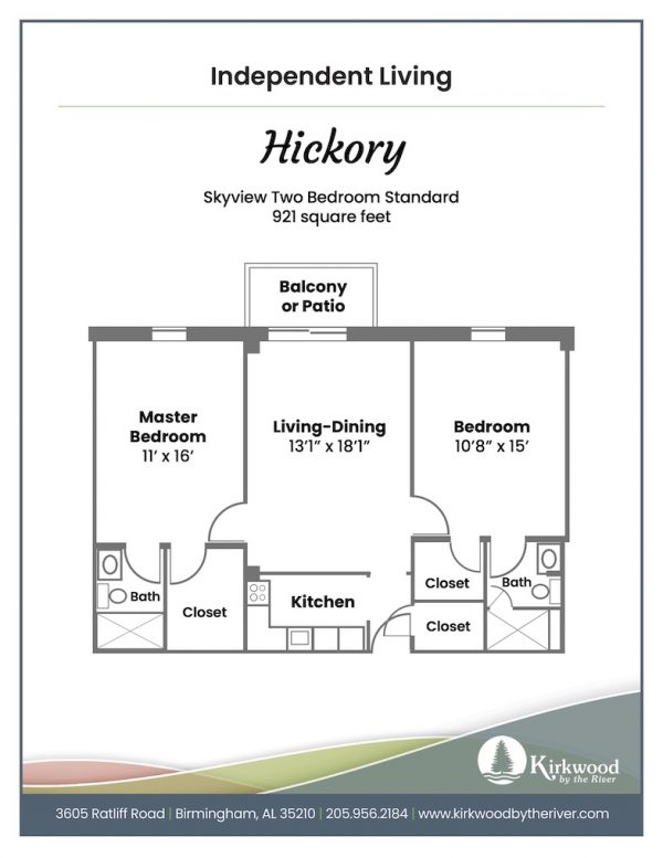 Kirkwood by the River hickory floor plan