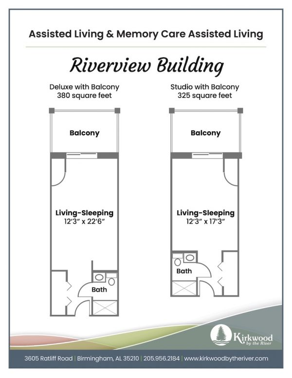 Kirkwood by the River riverview floor plan