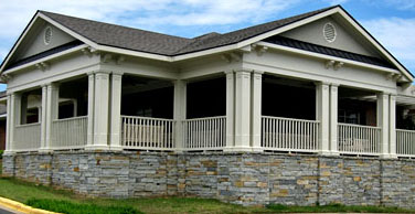 Resident porch at Chapman Healthcare & Assisted Living Center
