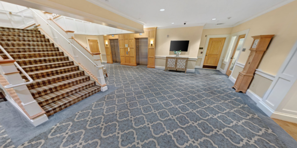 The Residence at Brookside lobby and staircase