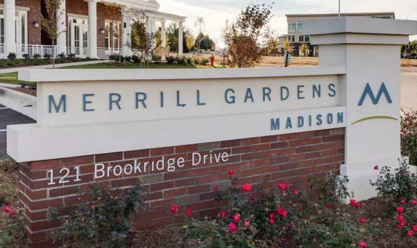 Merrill Gardens at Madison community entrance sign