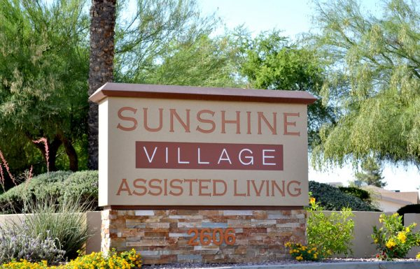 Sunshine Village entrance sign