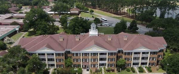 Aerial view of main building of The Methodist Oaks