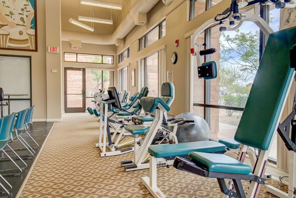 Fountain View Village resident fitness center