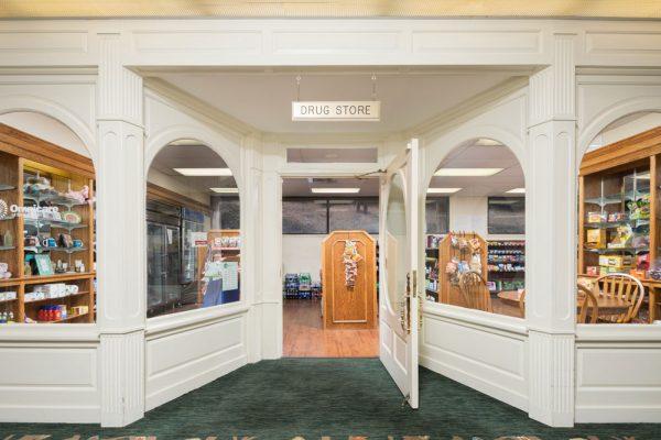 Mount Royal Towers community drug store entrance
