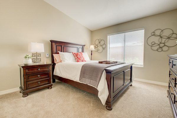Model bedroom in Fountain View Village