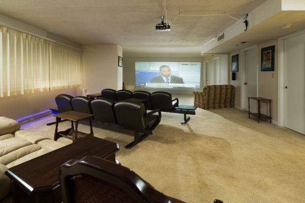 Mount Royal Towers resident movie theater