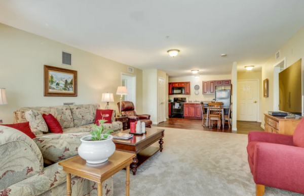 Keystone Place at Legacy Ridge model home living room
