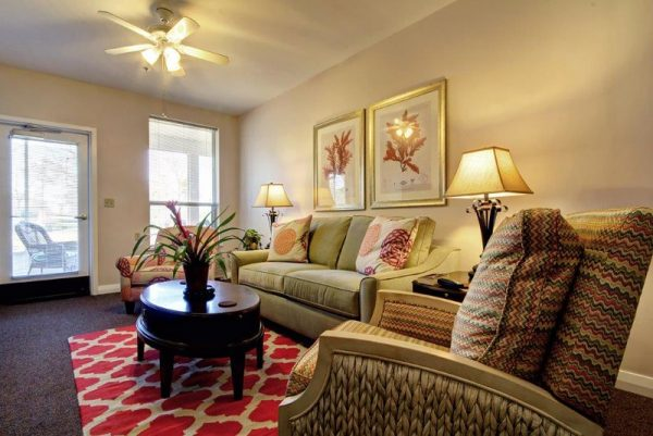 Living area inside North River Village