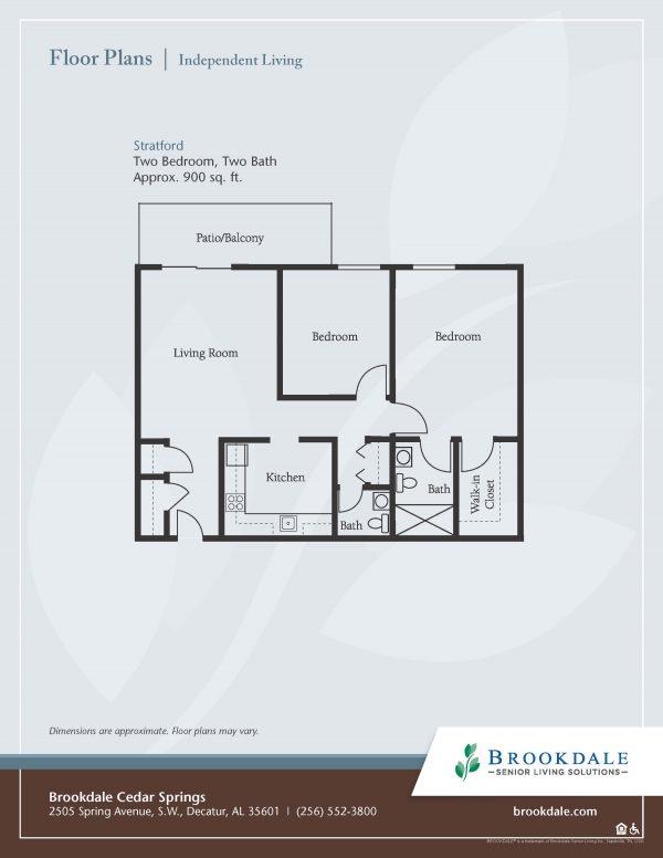 Brookdale Cedar Springs floor plan 3