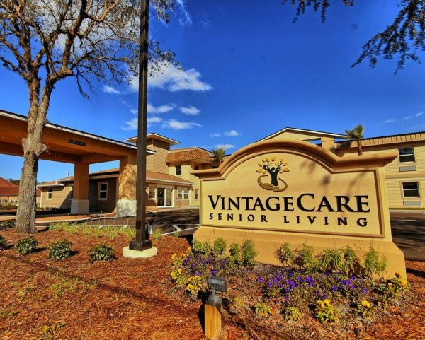 Vintage Care sign and building front