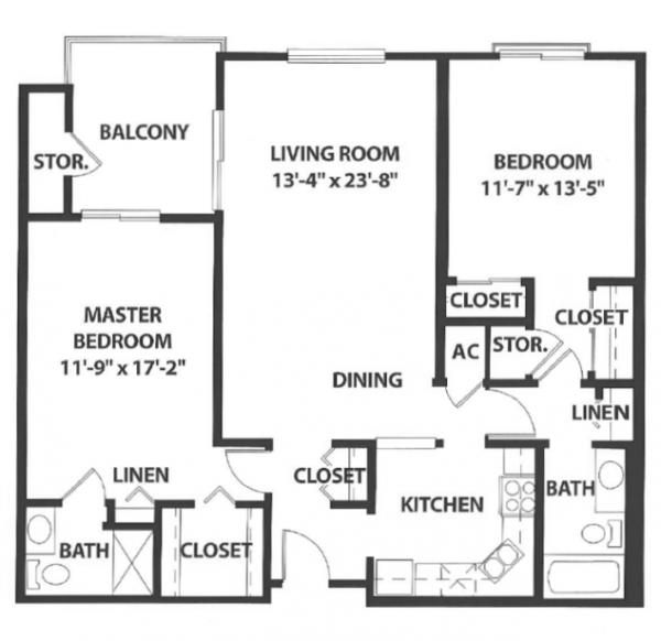 Sierra Winds floor plan 1