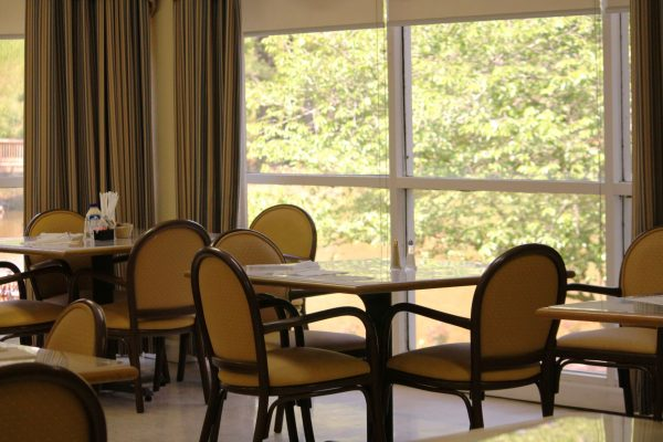 Resident dining room in Village at Cook Springs