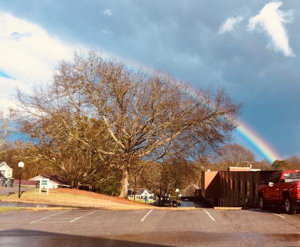 Rainbow over Traylor Nursing Center