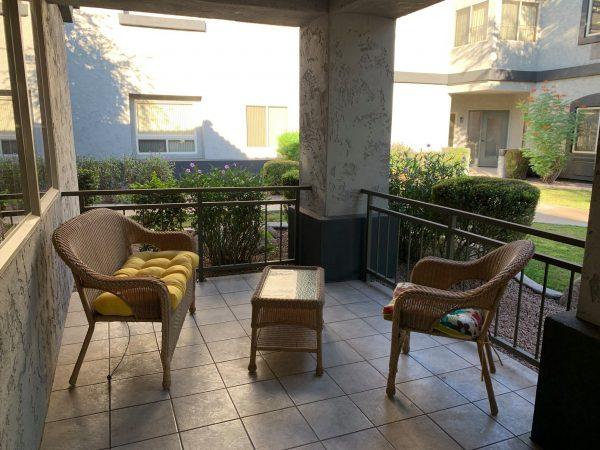 Apartment balcony at Avamere at The Stratford