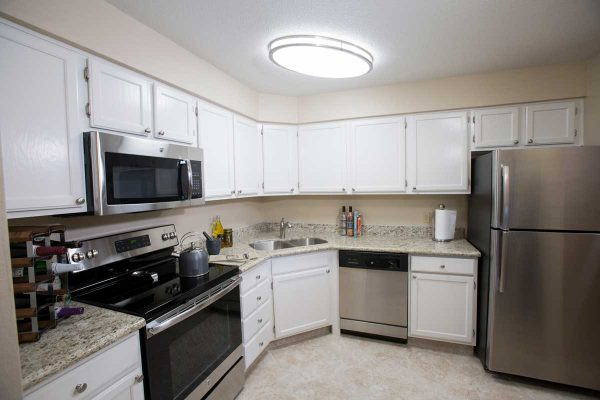 Sierra Winds model apartment kitchen
