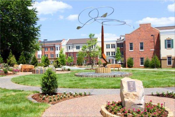 Arbor Acres United Methodist courtyard and walking path