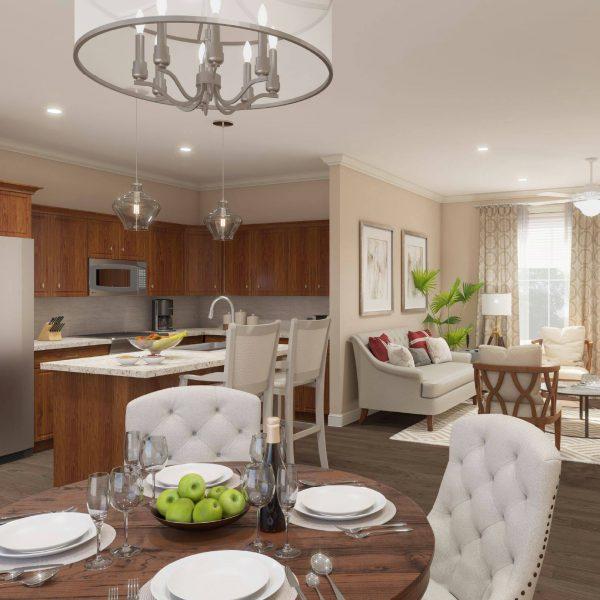 Brookridge Retirement Community model home interior