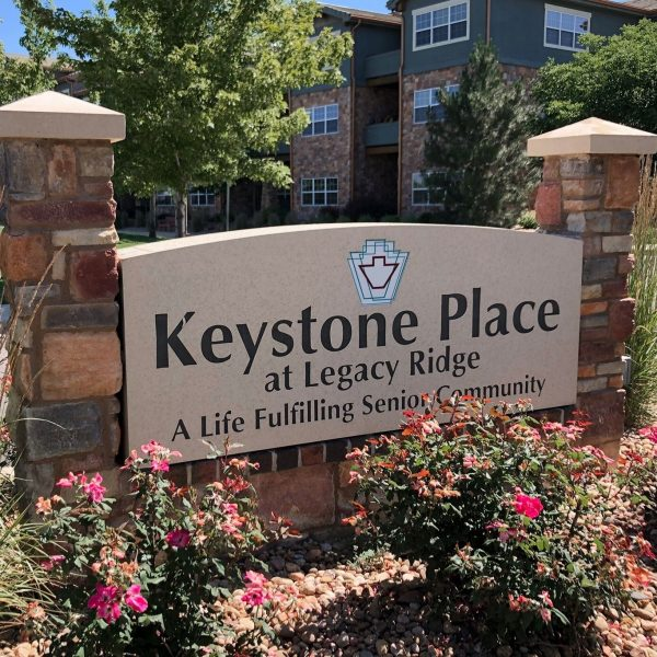 Keystone Place at Legacy Ridge welcome sign