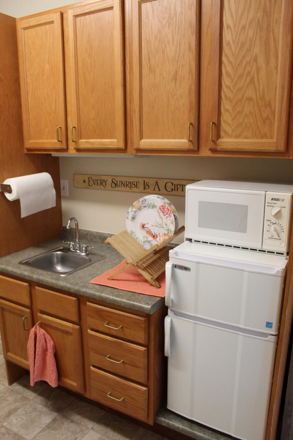 Kitchenette area in a Cape Cod Senior Residences home