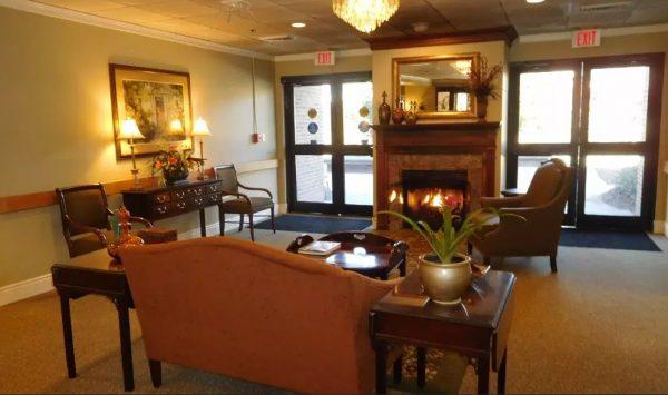 The Columbia Presbyterian Community living room