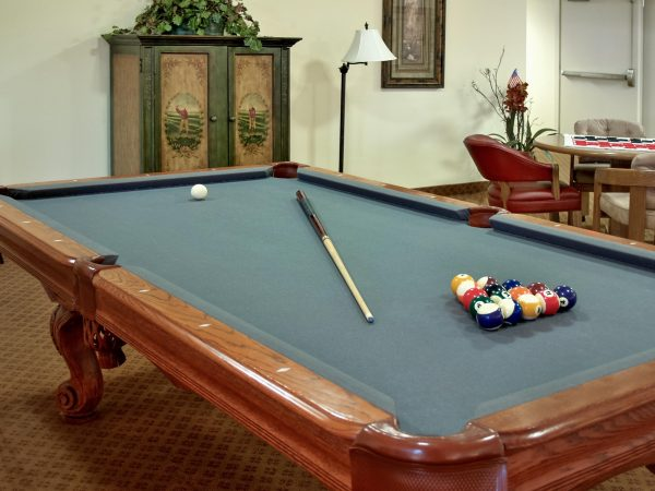 Rocky Ridge resident billiards room and pool table