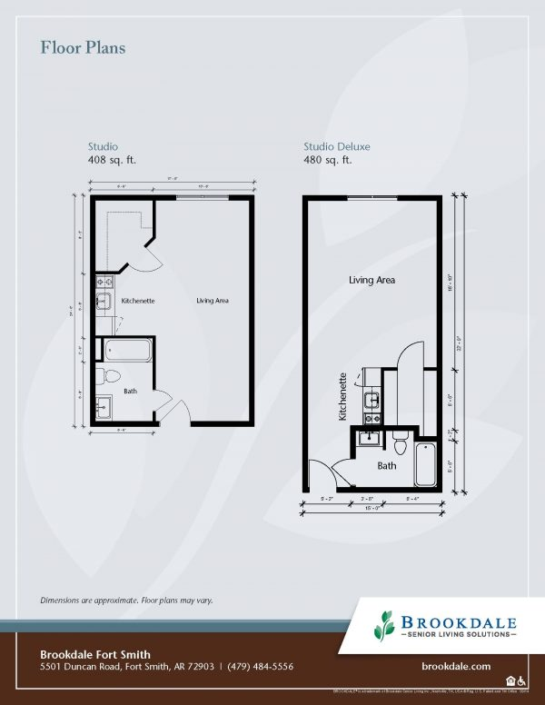 Brookdale Fort Smith floor plan 1