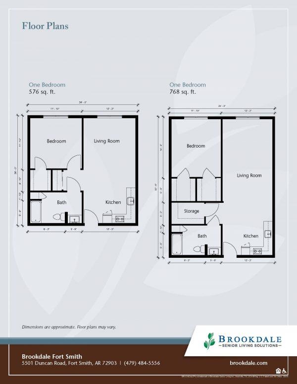 Brookdale Fort Smith floor plan 2