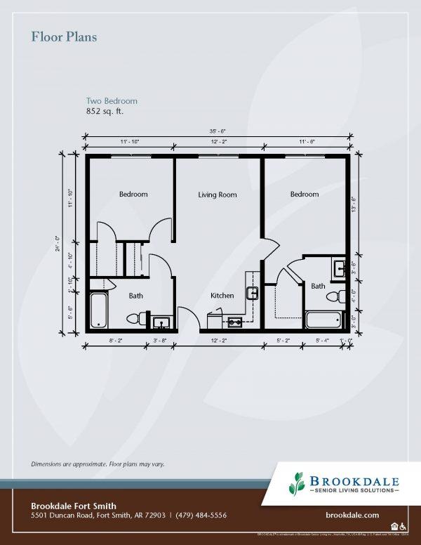 Brookdale Fort Smith floor plan 3