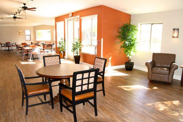 Community dining room in Sunshine Village