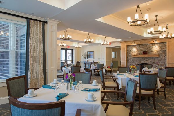 Community dining room in The Residence at Brookside