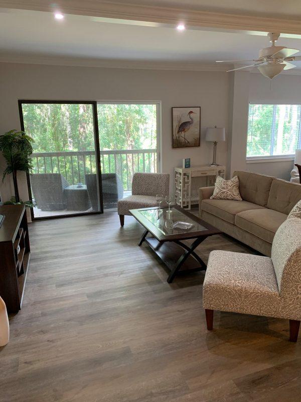 The Seabrook of Hilton Head residence model living room