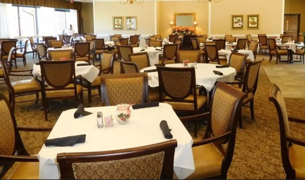 Main dining room in The Columbia Presbyterian Community