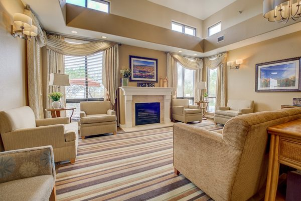 Community living room in Fountain View Village