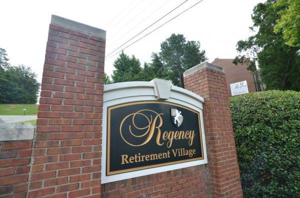 Regency Retirement Village - Birmingham entrance sign