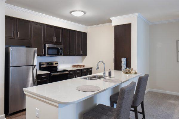 The Blake at Malbis model apartment kitchen