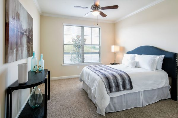 Model bedroom in The Blake at Malbis