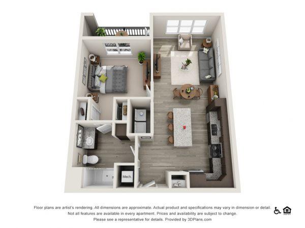 The Huntley floor plan at Belvedere at Berewick