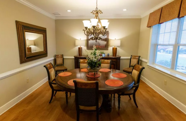 Private dining room in Arbor Ridge at Stanleyville