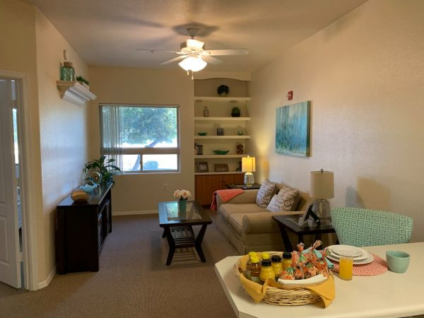 Model apartment interior at Avamere at The Stratford