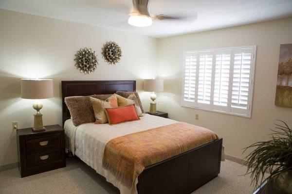 Sierra Winds model apartment bedroom