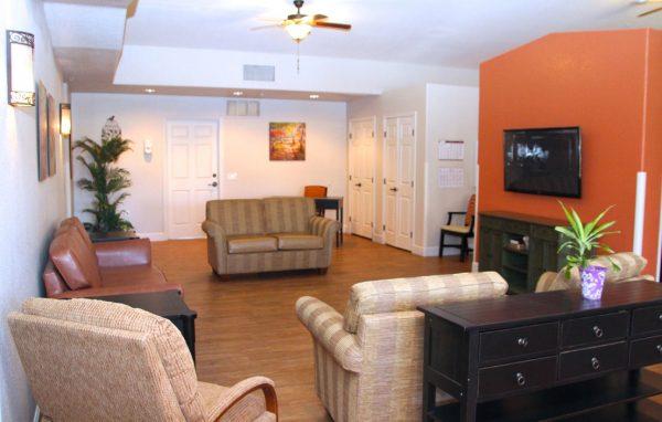 Sunshine Village community living room
