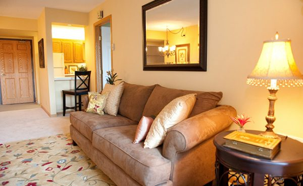 Living area in a residence at St. Camillus Independent Living