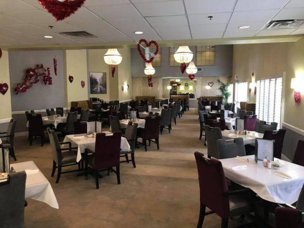 Acacia Springs community dining room