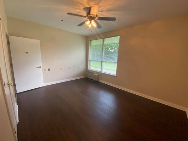 Model apartment featuring wood floors in North River Village